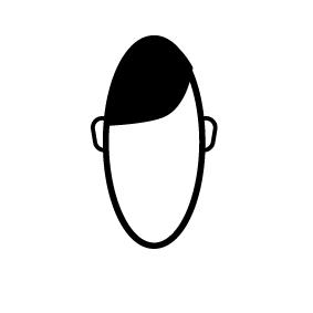 ワクラボの広報ヨッシーイラスト前髪