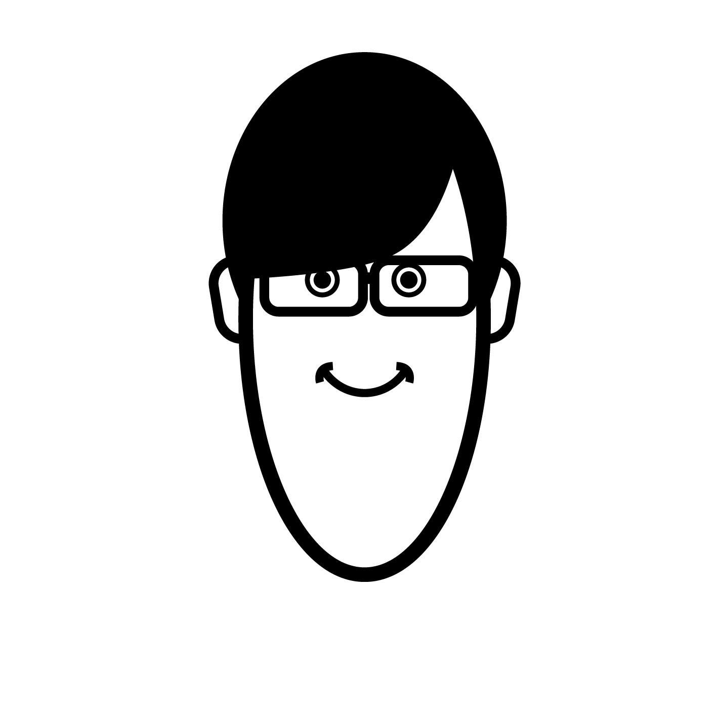 広報ヨッシーメガネ装着