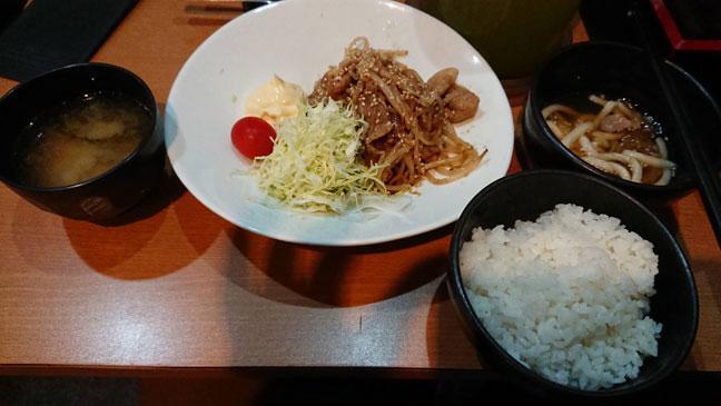 魚撃のおすすめ-豚の生姜焼き