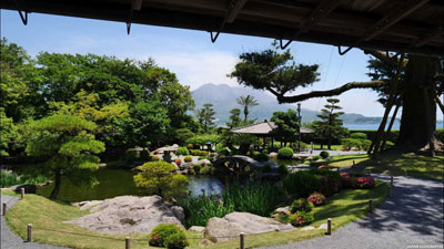 鹿児島の仙厳園画像