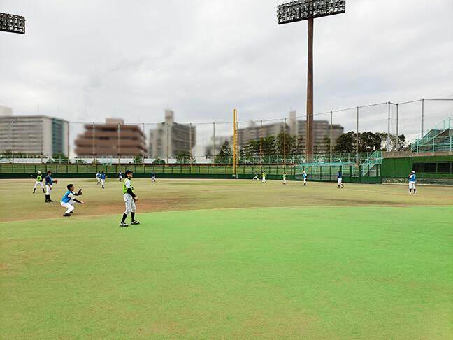 堺シュライクスのトライアウト_キャッチボール