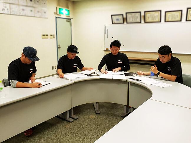 堺シュライクスのトライアウト後の選定会議