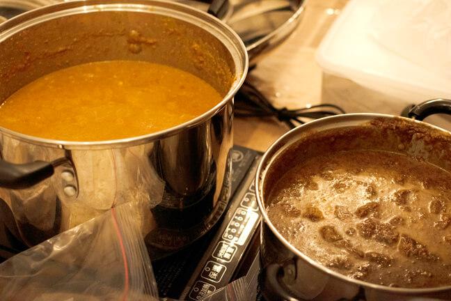 エスニックカフェマタハリ様の2種類のカレー