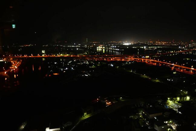 26階の会場から見える夜景