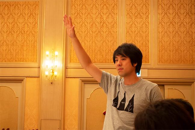 10周年記念パーティーでの光ちゃんマン社長
