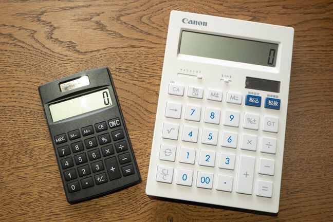 普通電卓と実務電卓
