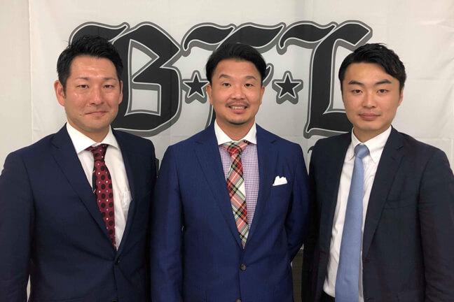 代表の夏凪さんと大西監督とオーナーの松本さん