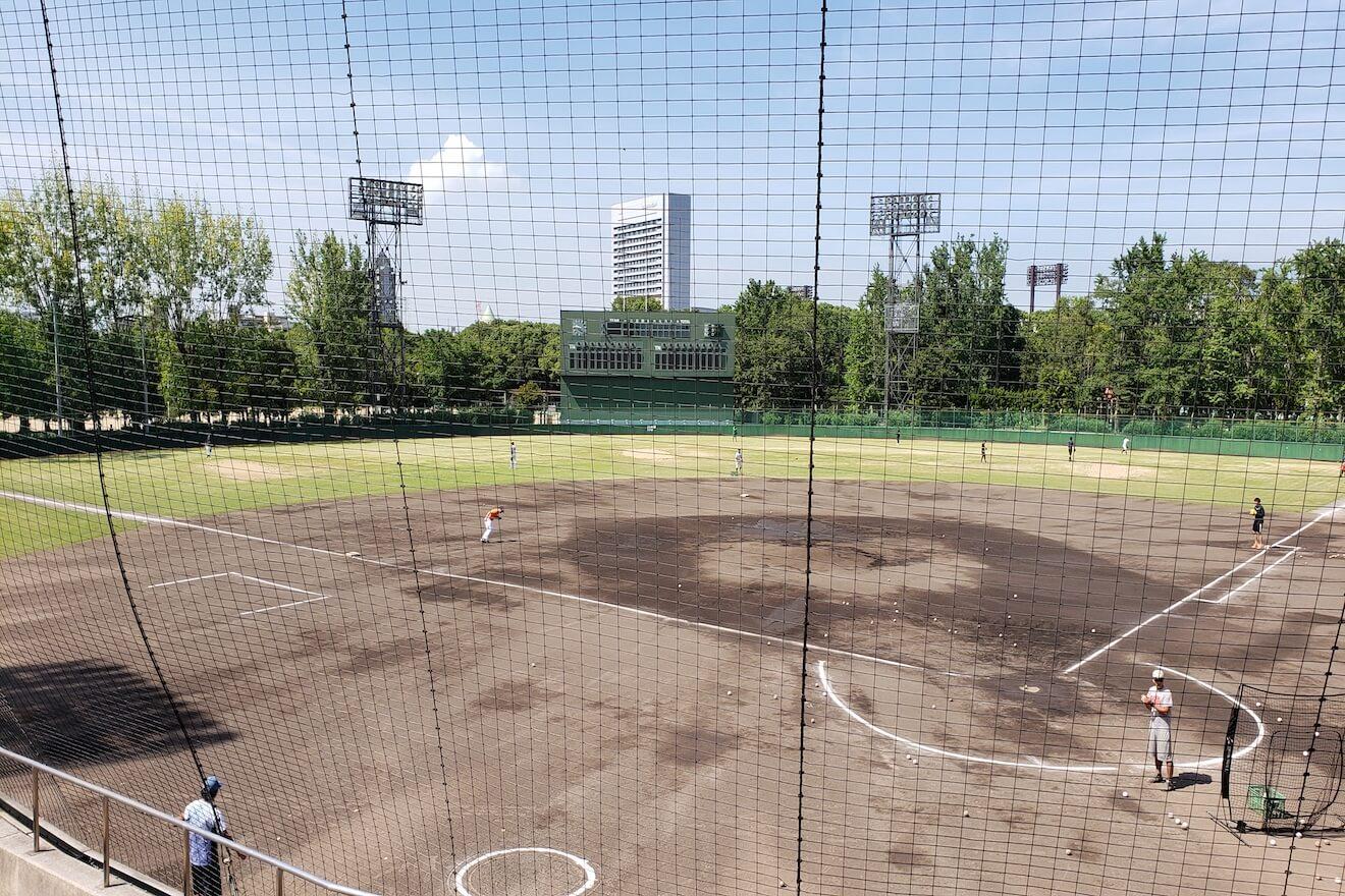 快晴の住之江野球場
